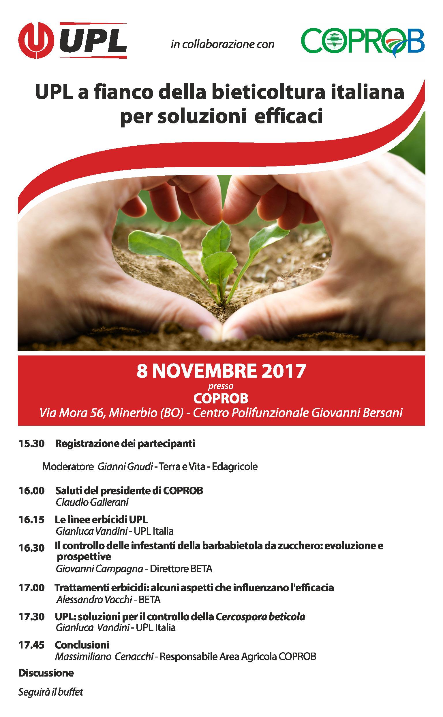 UPL a fianco della bieticoltura italiana per soluzioni efficaci