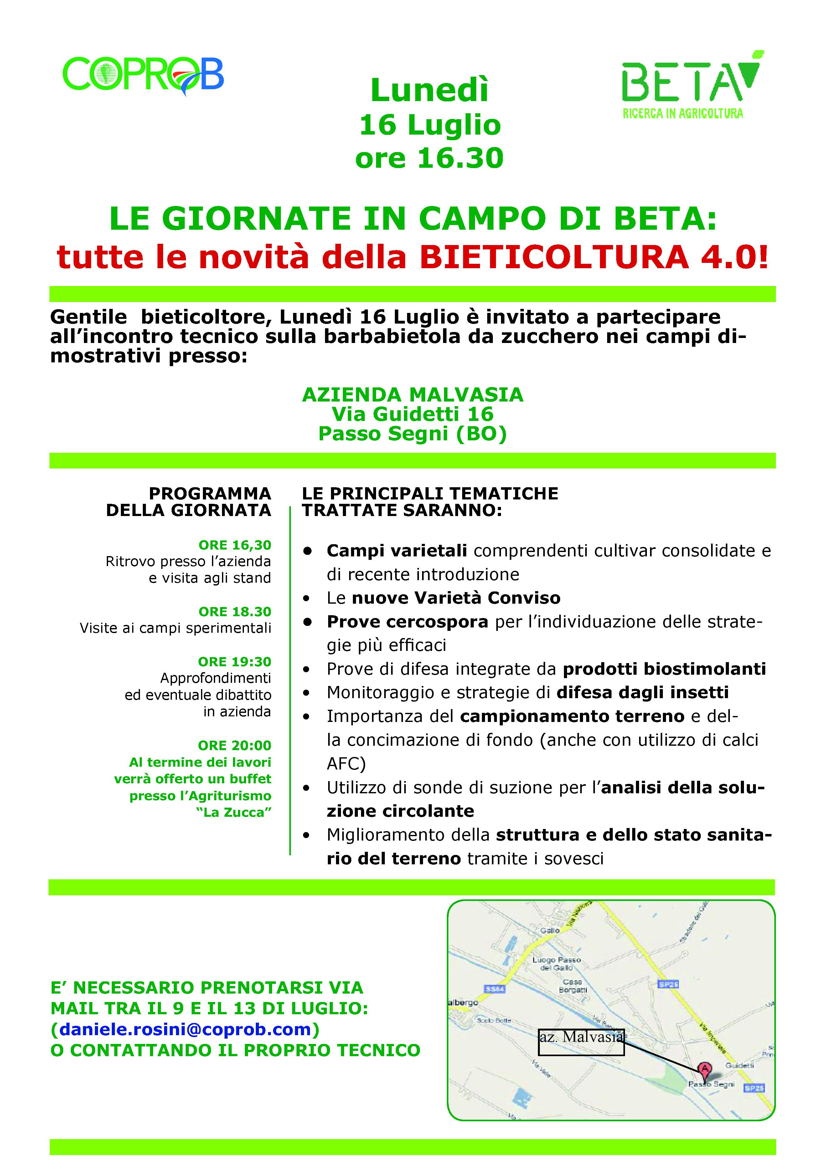 Visita alla piattaforma sperimentale di BETA a Passo Segni (BO)